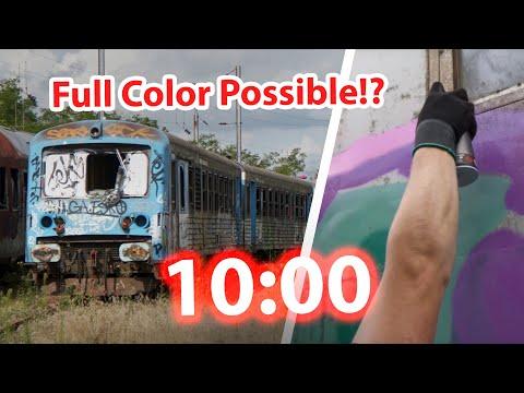 10 Minute GRAFFITI CHALLENGE - Train Bombing