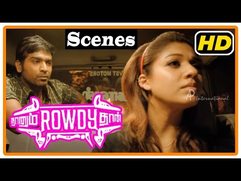 Naanum Rowdy Dhaan Movie | Scenes | Nayantara intro | Vijay Sethupathi realises Nayantara is deaf