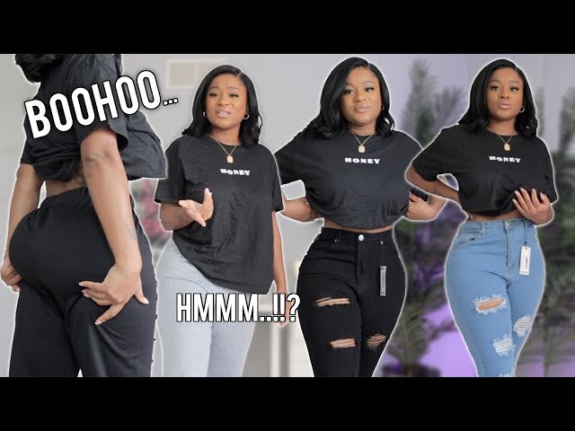 BOOHOO JEAN TRY ON HAUL + MORE  | Jeans for curvy women | Tianna Squarrel