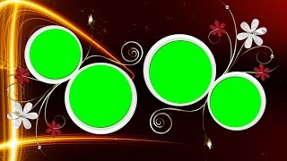Circle green screen video backgrounds free download | DMX HD BG 148