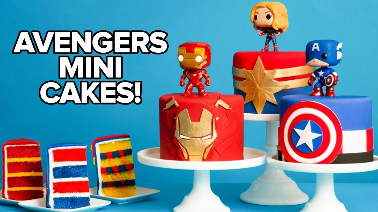 marvel avengers mini cakes