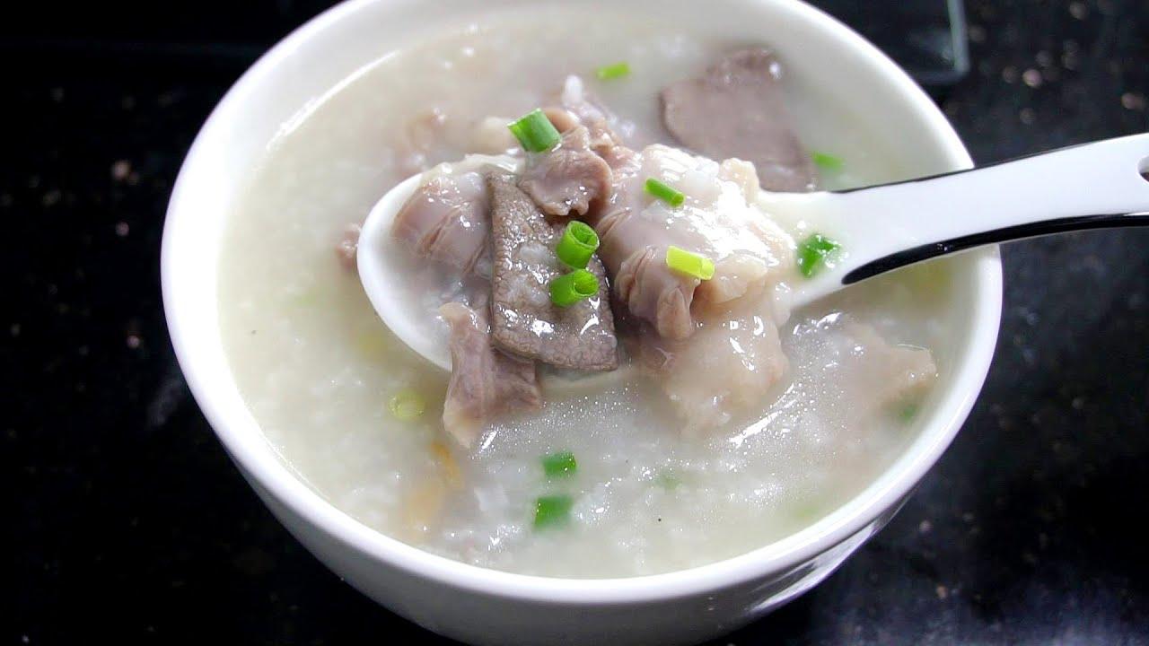 廣東豬雜粥這樣做太好吃了,出鍋肉滑粥香,很多人壹次能吃五六碗【我是馬小壞】