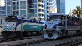 Railfanning San Diego subdivision!   Featuring Amtrak 90208 and plenty of action!  [HD]