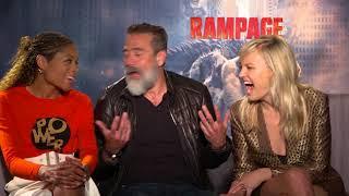 Rampage Interview: Jeffrey Dean Morgan, Naomi Harris, and Malin Akerman