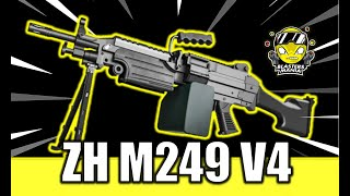 ZH M249 V4 (Unboxing, Review and FPS Testing) - Blasters Mania