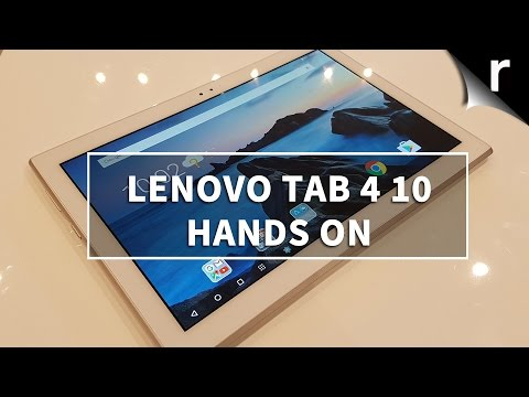 Lenovo Tab 4 10 hands-on review: Striking a balance - YouTube