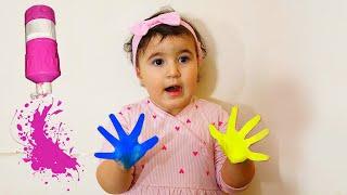 Celina with Paint Bottles - سيلينا وحسونة الوان للاطفال