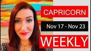 CAPRICORN WOW!! A MUST SEE!!! NOV 17 TO 23