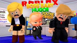 ROBLOX - THE BOSS BABY WON'T LET US GO HOME!! ESCAPE THE BOSS BABY OBBY!!