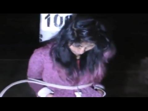 Atan a poste a menor de edad acusada de robo  en Juliaca