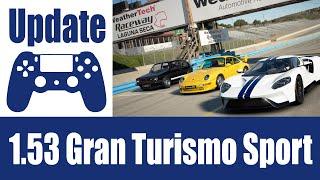 Gran Turismo Sport Update 1.53 mit Laguna Seca, VW Golf I, Ford GT, Porsche 993 RS