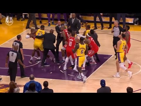 Bill Moran - Rondo's Spit Leads To Fight At End of Lakers Rockets Game