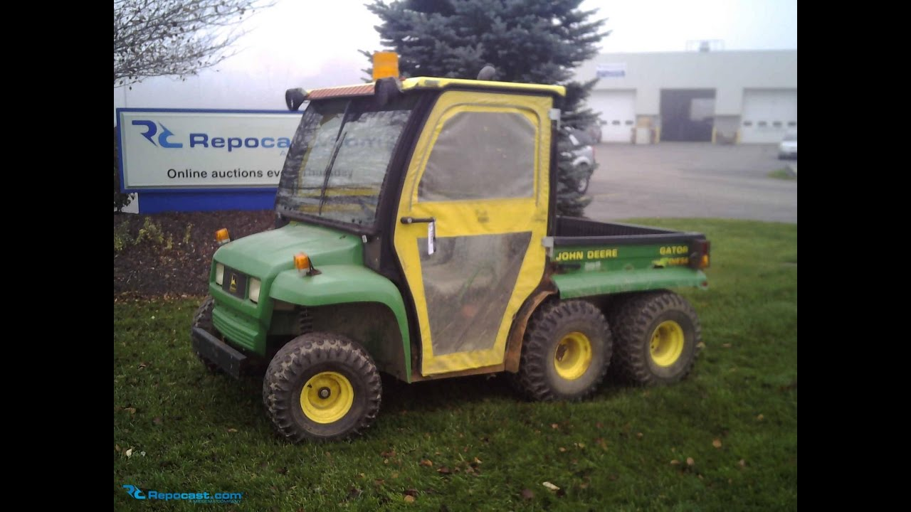 john deere gator 6x4 diesel for sale online auction youtube. Black Bedroom Furniture Sets. Home Design Ideas