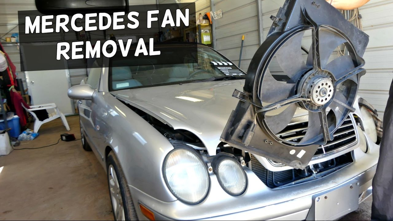 Mercedes Clk W208 W210 Radiator Fan Removal Replacement