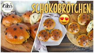 Soft chocolate buns /Bakery style / Back to school for kids - no eggs