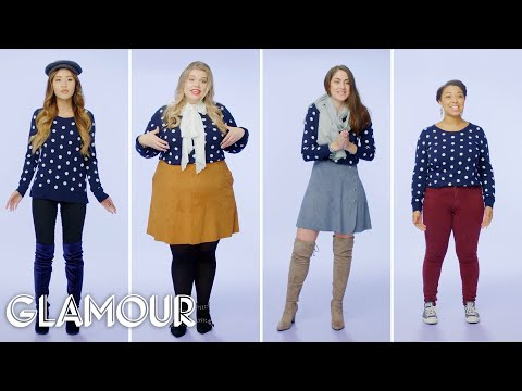 Women Sizes 0 To 28 Try On The Same Sweater | Glamour