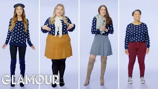 Women Sizes 0 Through 28 Try on the Same Sweater | Glamour