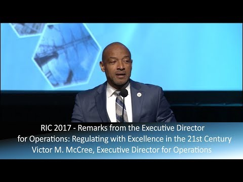 RIC2018: Remarks From the Executive Director for Operations Victor M. McCree