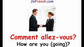 Learn French -  French greetings