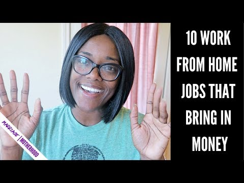 10 High Paying work from home jobs in 2019 THAT BRING IN THE MONEY. http://bit.ly/2Q6cQQf