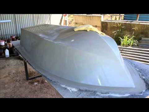 Fibreglass Boat Building from Mold - YouTube