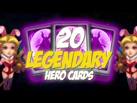 Castle Clash Opening 20 Legendary Hero Cards