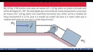 Exercício 66 - cap 5 - vol 1 - 8 edição - Halliday e Resnick