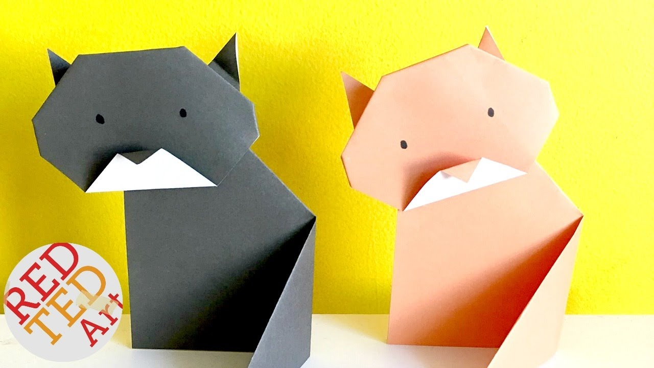 Easy Origami Cat Paper Diys Origami For Kids Very Easy Youtube