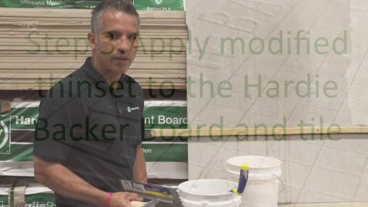 How To Install Tiles With The Har Backer Board