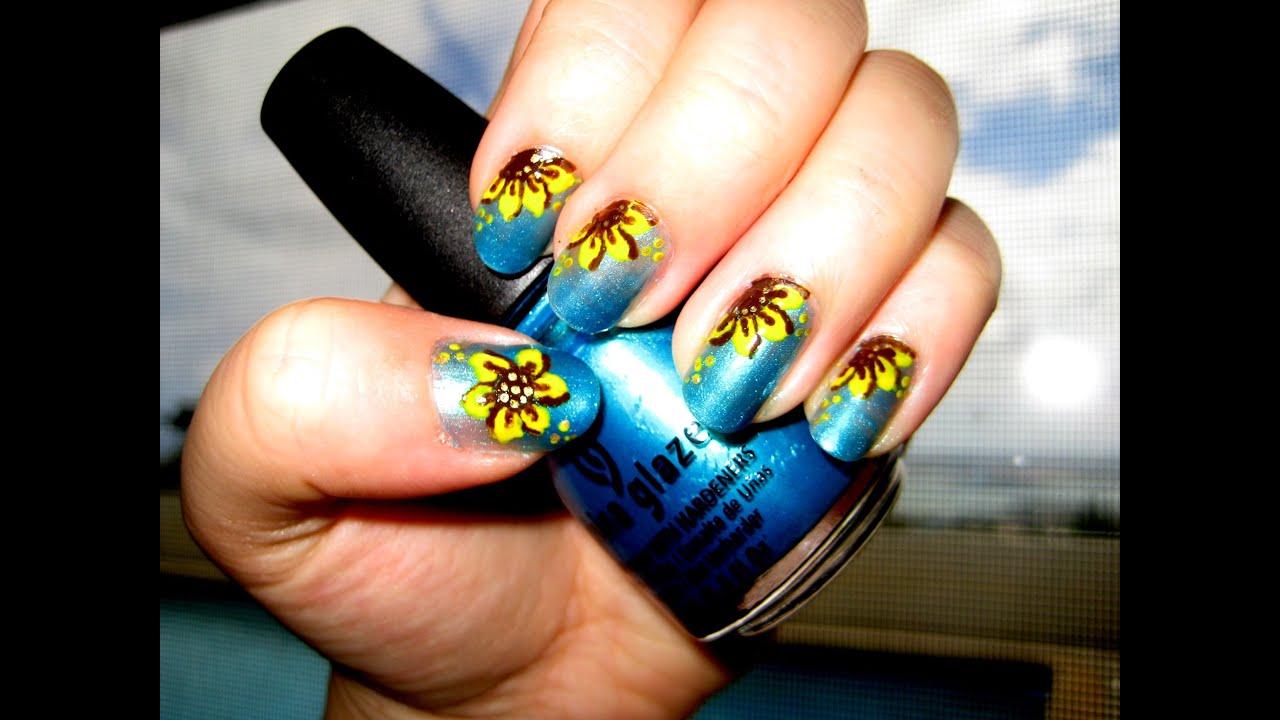 Sunflower Nails Youtube