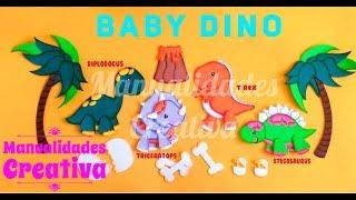 Bebes Dinosaurio paso a paso - Craft DIY manualidad en foamy/goma eva/microporoso