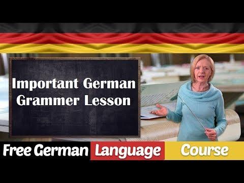 Important part of German grammar - A78