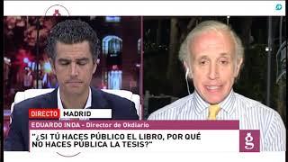 Eduardo Inda: 'La tesis de Sánchez es más falsa que judas. El 80% se la hizo Carlos Ocaña'