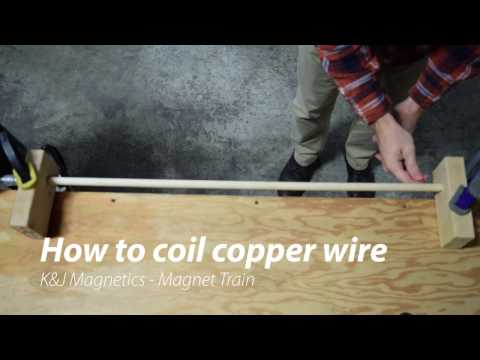 How to easily coil copper wire