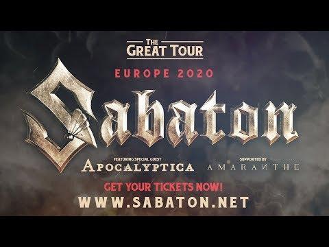 Twisted Sister Tour 2020 Sabaton announce European tour dates for 2020   YouTube