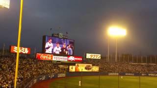 2013年3月29日、神宮球場での阪神vsヤクルト開幕戦前のセレモニ...