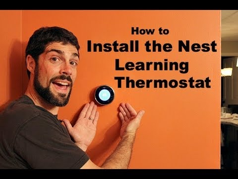 how to install the nest learning thermostat by home repair tutor youtube. Black Bedroom Furniture Sets. Home Design Ideas