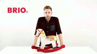 BRIO wooden rocking horse reference 30170 at Bilboquet Toys and Games