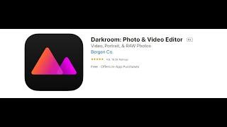 Darkroom شرح برنامج