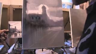 Бесплатный видео урок Городской пейзаж Игорь Сахаров