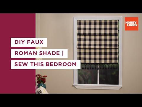 Sew This Bedroom Roman Shade