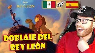 Español REACCIONA a DOBLAJE LATINO el REY LEÓN 🦁👑 Latino vs Español 🙀👉🏼 REACCIÓN Doblaje LATINO