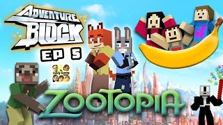 Adventure Block - Episode 5: ZOOTOPIA!  Going to the Movies! (FGTEEV MINECRAFT MINI-SERIES)