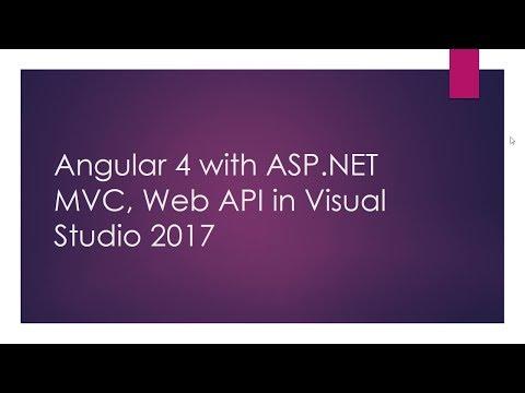 how to create web api in visual studio 2017