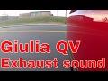 Alfa Romeo Giulia QV SYMPHONY EXHAUST SOUND acceleration and drive video (8 speed auto)