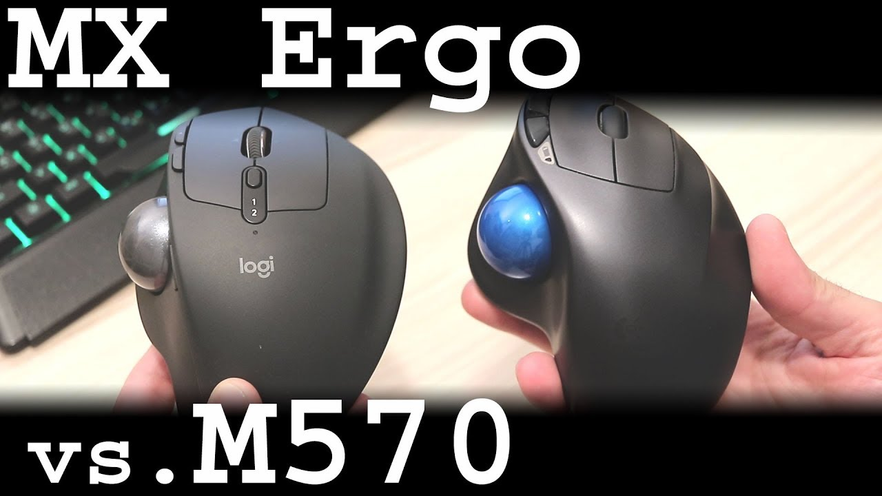 Logitech MX Ergo vs  M570 review