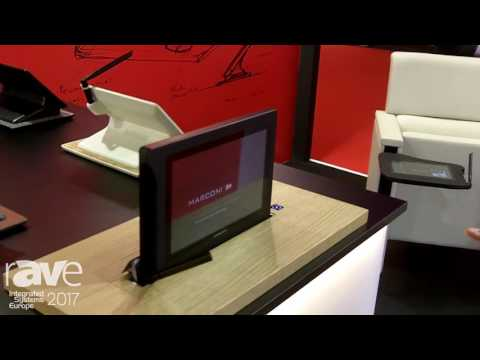 ISE 2017: Marconi Introduces Motorized Retractable Screen for Conference Table