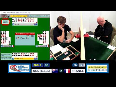 2015 WBTC BB-RR15 BBO-2[OR] AUSTRALIA vs FRANCE