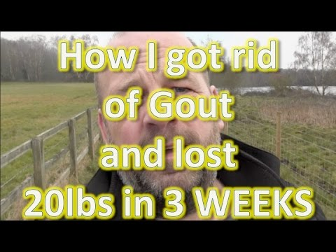 How I cured Gout in my Knee and lost 20lbs in THREE weeks.