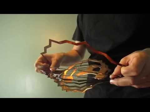 WorldaWhirl Easy Improved Designs - How to Open 3D Wind Spinners Hand Painted Stainless at Amorpax